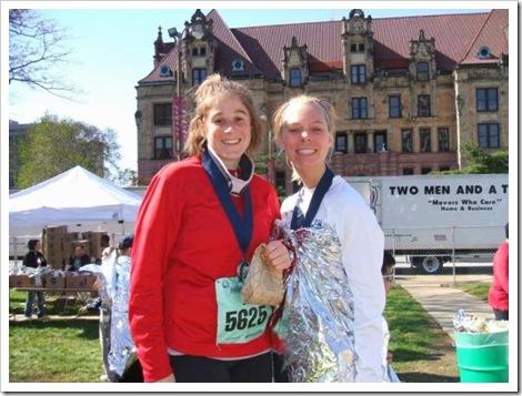 Kelley and Jen Post Race